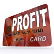 Profit on Credit Debit Card Shows Earn Money — Stock Photo