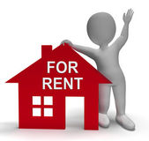 For Rent House Shows Rental Or Lease Property — Stock Photo