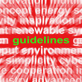 Guidelines Word Means Instructions Protocols And Ground Rules — Stock Photo