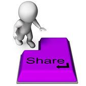 Share Key Means Posting Or Recommending On Web — Stock Photo