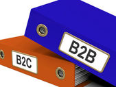 B2B And B2C Folders Mean Company Partnerships Or Customer Relati — Stock Photo