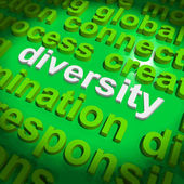 Diversity Word Cloud Shows Multicultural Diverse Culture — Stock Photo
