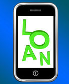 Loan On Phone Means Lending Or Providing Advance — Stock Photo