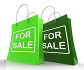 For Sale Bags Represent Retail Selling and Offers — Stock Photo