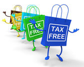 Tax Free Bags Represent Duty Exempt Discounts — Stock Photo