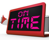On Time Clock Shows Punctual And Reliable — Stock Photo