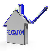 Relocation House Means Shifting And Change Of Residency — Stock Photo