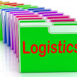 Stock Photo: Logistics Folders MePlanning Organization And Coordination