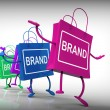 Stock Photo: Brand Bags Represent Marketing, Brands, and Labels