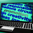Promotion Screen Shows Marketing Campaign Or Promo — Foto de stock #41161947