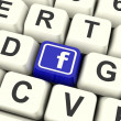 Facebook Key Means Connect To Face Book — Stock Photo #41162073