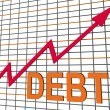 Stock Photo: Debt Graph Chart Shows Increase Financial Indebted