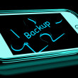 Backup Smartphone Means Copying And Storing Data — Stock Photo #41162297