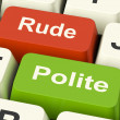 Rude Polite Keys Means Good Bad Manners — Stock Photo #41162755