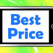 Stock Photo: Best Price On Phone Shows Promotion Offer Or Discount