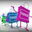 Fashion Bags Represent Trends, Shopping, and Designs — Stock Photo #41163671
