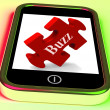 Buzz Smartphone Means Creating Publicity And Awareness — Stock Photo #41164013