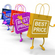 Stock Photo: Best Price Bags Show Deals on Merchandise and Products