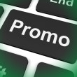 Stock Photo: Promo Key Shows Discount Reduction Or Save