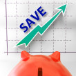 Save Graph Means More Discounts Specials And Bargains — Stock Photo #41165303