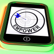 Empower Smartphone Means Provide Tools And Encouragement — Stock Photo #41166011