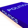 Stock Photo: Politics Book Shows Books About Government Democracy