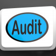 Stock Photo: Audit Button Shows Auditor Validation Or Inspection