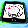 Stock Photo: Strategy Smartphone Means Methods Tactics And Game Plan