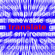 Stock Photo: Translate Word Means Converting To Another Language