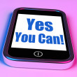 Постер, плакат: Yes You Can On Phone Shows Motivate Encourage Success