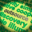 Outsource Word Means Hiring Independent Worker Or Subcontractor — Stock Photo #41168349