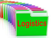 Logistics Folders Mean Planning Organization And Coordination — Stock Photo