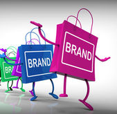 Brand Bags Represent Marketing, Brands, and Labels — Stock Photo