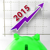 Graph 2015 Shows Financial Forecast Projecting Growth — Stock Photo