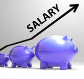 Salary Arrow Shows Pay Rise For Workers — Stock Photo