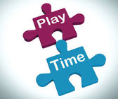 Play Time Puzzle Means Fun And Leisure For Children — Stock Photo