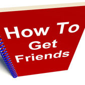 How to Get Friends on Notebook Represents Getting Buddies — Stock Photo