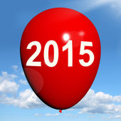 Two Thousand Fifteen on Balloon Shows Year 2015 — Stock Photo