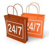 Twenty four Seven Bags Show Hours Open — Stock Photo