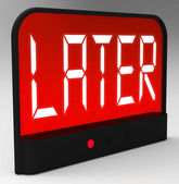 Later Clock Shows Afterwards Or In A While — Stock Photo