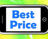 Best Price On Phone Shows Promotion Offer Or Discount — Stock Photo