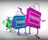 Fashion Bags Represent Trends, Shopping, and Designs — Stock Photo