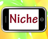 Niche Smartphone Shows Web Opening Or Specialty — Stock Photo
