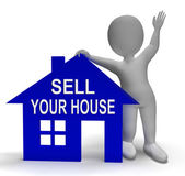 Sell Your House Home Shows Putting Property On The Market — Stock Photo