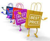 Best Price Bags Show Deals on Merchandise and Products — Stock Photo