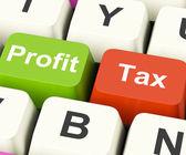 Profitto fiscale tasti visualizza pagando le tasse azienda — Foto Stock