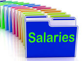 Salaries Folders Show Paying Employees And Remuneration — Stock Photo