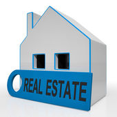 Real Estate House Means Homes Or Buildings On Property Market — Stock Photo