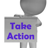 Take Action Sign Means Being Proactive About Change — Stock Photo