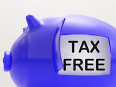 Tax Free Piggy Bank Means No Taxation Zone — Stock Photo
